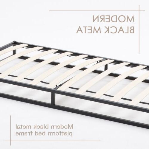 Twin Size Frame Slats Mattress Foundation