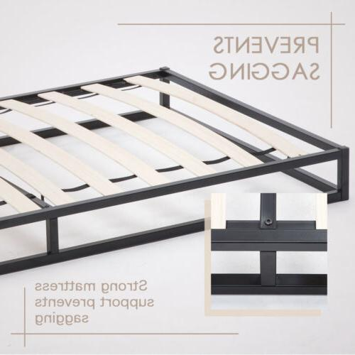 Twin Size Metal Frame Platform Slats Mattress