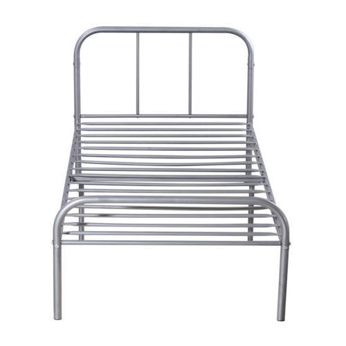 Twin Size Platform Bed Frame Foundation Steel Headboard