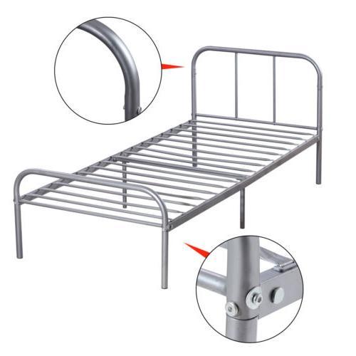 Twin Size Metal Bed Steel Headboard Bedroom