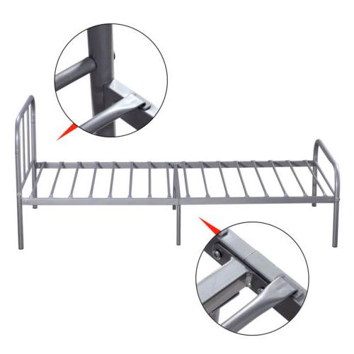 Twin Metal Bed Frame Mattress Foundation Steel Headboard Bedroom