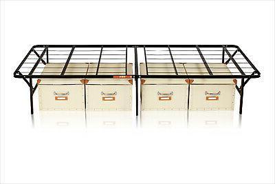 Frame Foldable Mattress Stand Platform 14 Black
