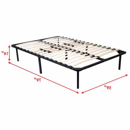 Twin Size Wood Bed Frame Platform Foundation