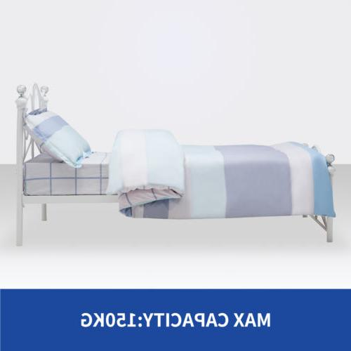 Twin Metal Bed Frame Girls Bedroom