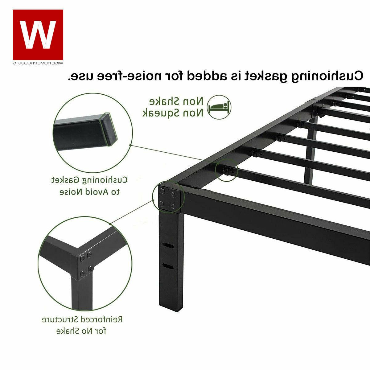 """CAL King Heavy Steel Bed Frame Cali King Bed - Height 14"""""""