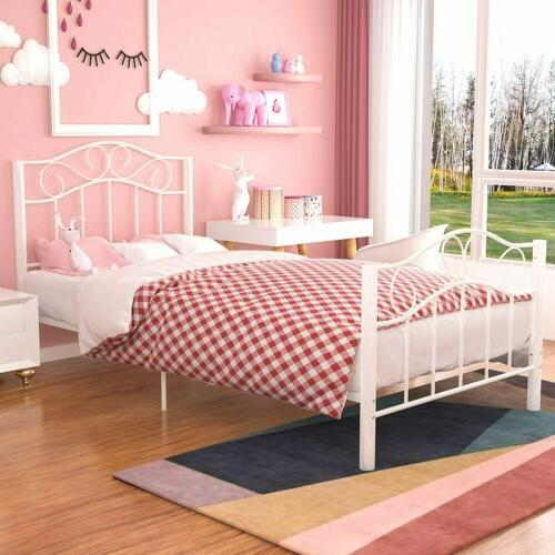 Twin Frame Footboard Bedroom Furniture White