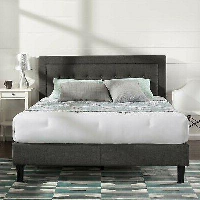 upholstered button tufted premium platform bed