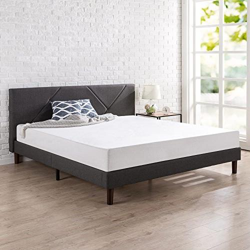 Zinus Judy Paneled Platform Bed Wood Slat Support,