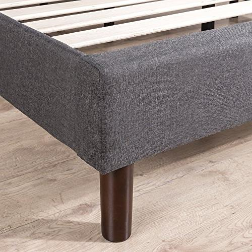 Zinus Judy Upholstered Paneled Platform Wood