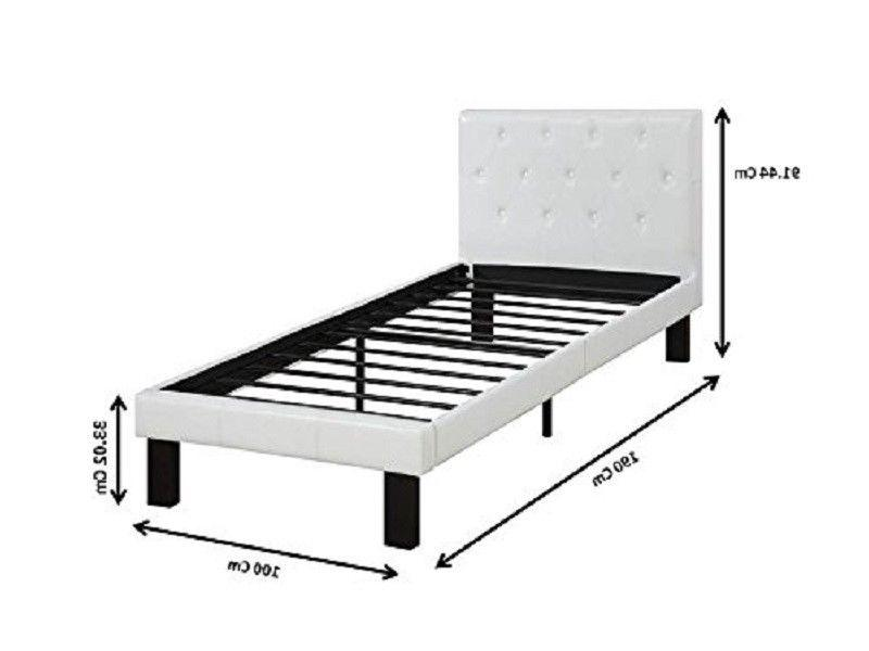 White Bed Twin Platform Headboard Footboard Leather