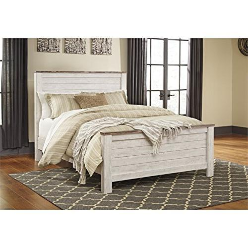 willowton queen panel bed whitewash