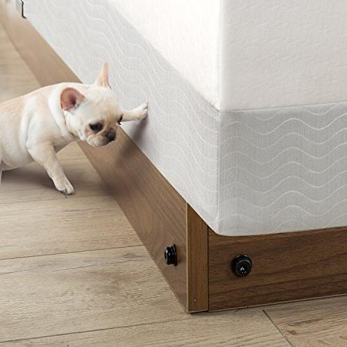 Zinus 5 Wood Bed Frame for Spring & Pets From Beneath Bed, Twin