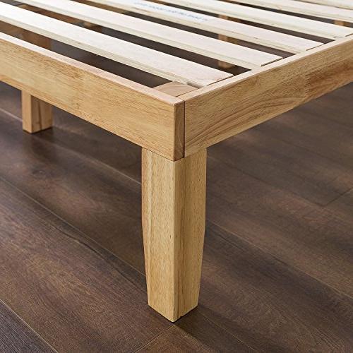 Zinus 14 Inch Wood No / / Natural Finish, Full