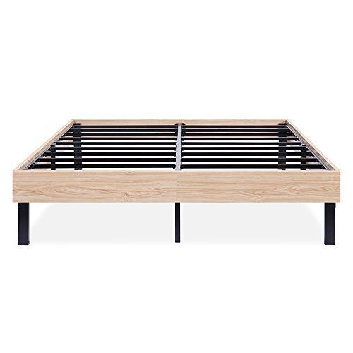 wood platform bed steel slat