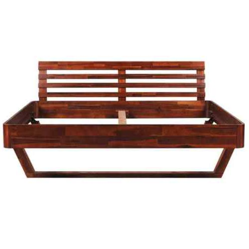 "Wooden Platform Frame Queen 60""x80"" Solid Acacia"