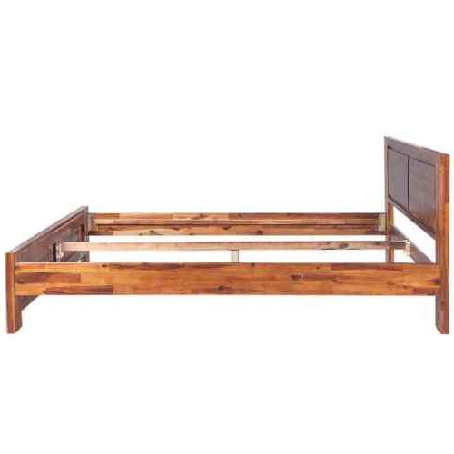"Wooden Platform Bed Frame Queen 60""x80"" Acacia"