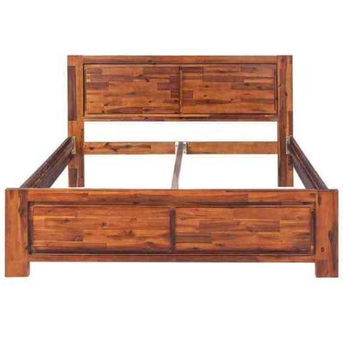 Wooden Platform Queen Acacia