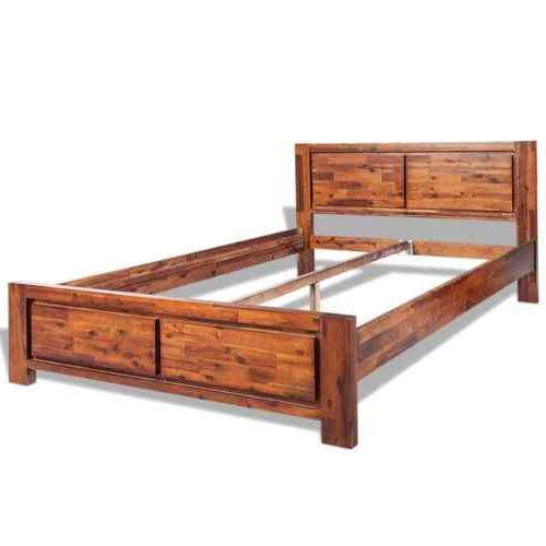 Wooden Bed Frame Queen Size Solid Acacia New