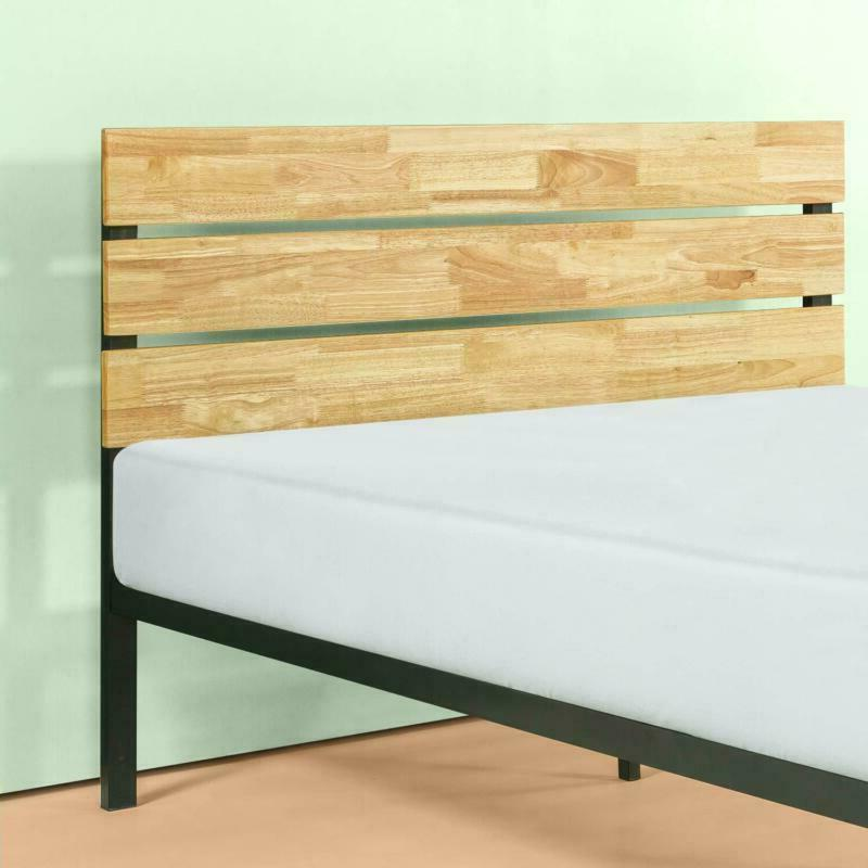 Wood Platform Bed With Wood