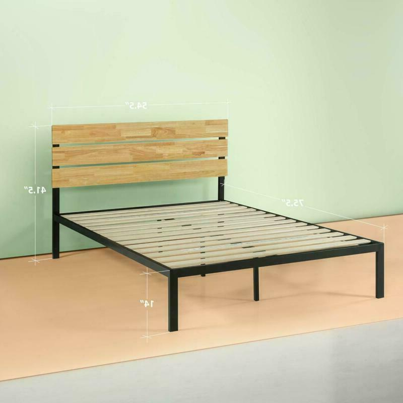 Zinus Paul And Wood Platform Bed With Wood