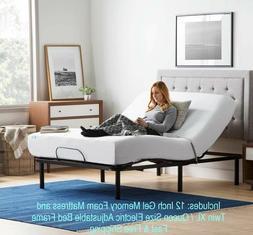 LUCID L100 Adjustable Bed Base Steel Frame - 5 Minute Assemb