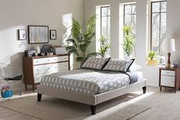 Baxton Studio Lancashire King Bed in Beige