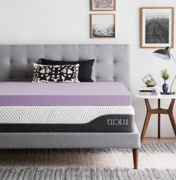 LUCID Ventilated Design 4 Inch Lavender Infused Memory Foam
