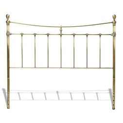 Leighton Metal Headboard w/ ed Posts and Scalloped Castings