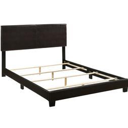 Acme Furniture ACME Lien Black Faux Leather Queen Bed