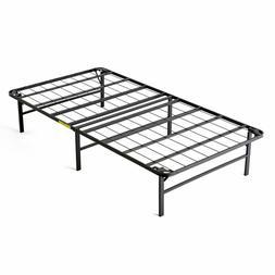 Easy Set Up Bi-Fold Platform Metal Bed Frame, Twin intelliBA