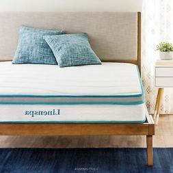 "LinenSpa 8"" Memory Foam and Innerspring Hybrid Mattress Quee"