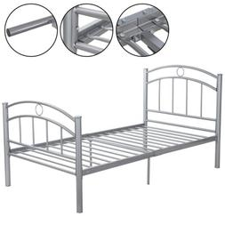 Home Room Twin Size Metal Steel Bed Frame Platform Bedroom B