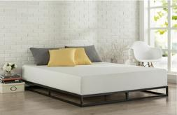 Low Bed Frame Full Size Platform Mattress Foundation Steel M