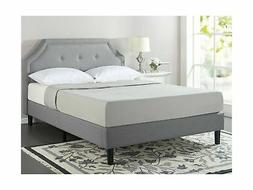 Zinus Lyon Upholstered Button Tufted Platform Bed with Woode