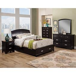 Alpine Furniture Madison Storage Platform Bed, King Size