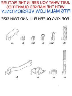 IKEA MALM BED FRAME REPLACEMENT PARTS HARDWARE LOW VERSION