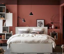 IKEA MALM Bed Frame: White, Full/double, Used/Seller refurb.