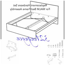 IKEA MALM High Bed Frame Replacement Hardware Set for Bed As