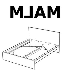 IKEA MALM High Bed Frame Replacement parts Hardwares for Bed