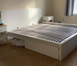 IKEA Malm King, High, Bed Frame White 490.094.8, base