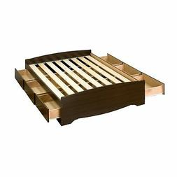 Prepac Manhattan Platform Storage Bed in Espresso Finish-Ful