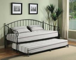 Kings Brand Furniture Matt Black Metal Twin Size Day Bed  Fr