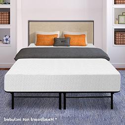 memory foam steel bed frame