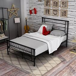 Bed Frame Full Size With Metal Headboard And Footboard Steel