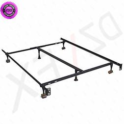 DzVeX Metal Bed Frame Adjustable Queen Full Twin Size W/Cent