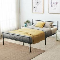 Metal Bed Frame Platform Bed with Storage No Box Spring Need