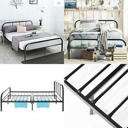 Metal Bed Frame Platform Mattress Foundation No Box Spring B