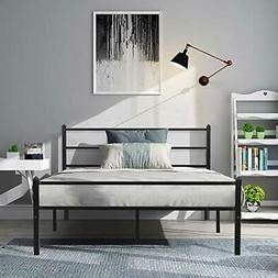 GreenForest Metal Bed Frame Queen Size Sturdy Platform Found