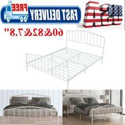 Metal Bed Frame Twin Full Size Platform Mattress Foundation