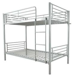 Metal Bunk Beds Frame over Twin Ladder for Kids Adult Childr